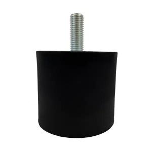 Tampon        amortisseur cylindrique caoutchouc Ø80 x 70 mm • Tige filetée M14 x 35 mm