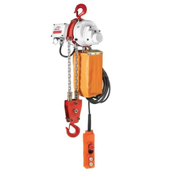 Palan                                  électrique à chaîne avec crochet de suspension (monophasé) 1 000 kg