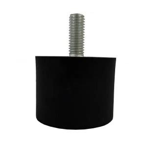 Tampon                      amortisseur cylindrique caoutchouc Ø40 x 30 mm • Tige filetée M8 x 20 mm