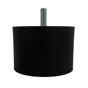 Tampon   amortisseur cylindrique caoutchouc Ø150 x 100 mm • Tige filetée M20 x 50 mm