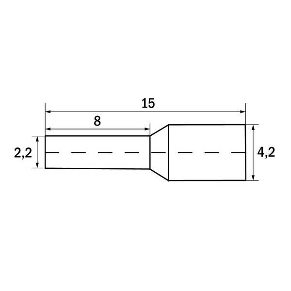 Embout de câblage 2,5 mm² Gris