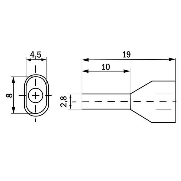 Embout de câblage double 2×2,5mm² Noir