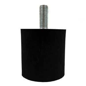 Tampon                    amortisseur cylindrique caoutchouc Ø40 x 40 mm • Tige filetée M8 x 20 mm