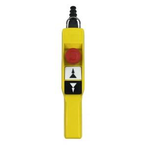 Boite à boutons   2 boutons poussoir (2 crans) + 1 arrêt d'urgence • XACA 2073 Schneider
