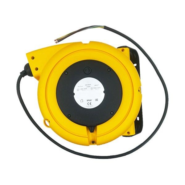 Enrouleur de câble à ressort • Câble 4G1,5 • 11m