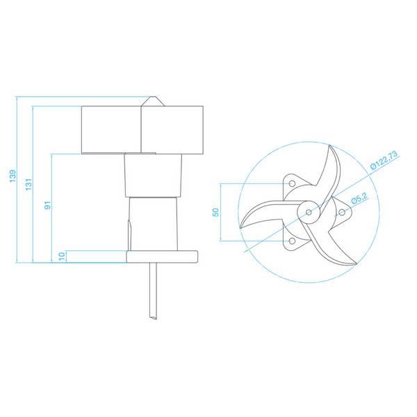 Capteur anémomètrique avec sortie 4-20mA