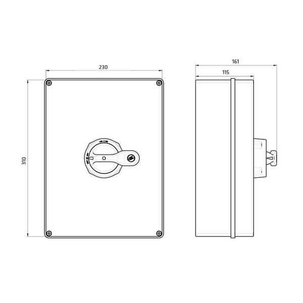 Interrupteur sectionneur cadenassable en coffret 3P • 160 A