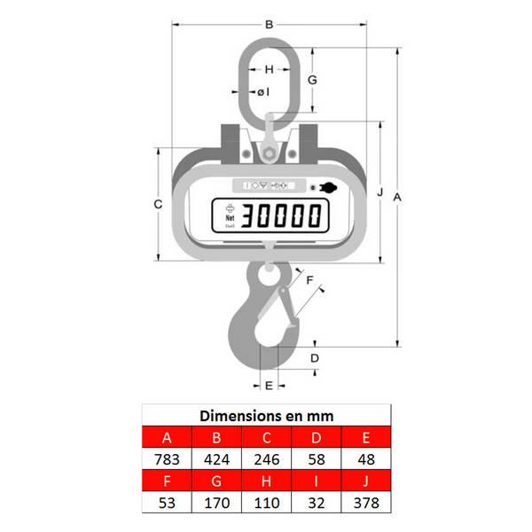 Peson LK10 – 0 à 10 000 kg