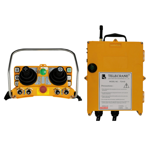 Radiocommande F24 – 60N  • 2 Joysticks 4 axes • (5 boutons poussoir 1 cran) • 4 interrupteurs à levier