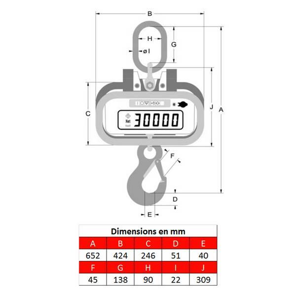 Peson LK 5 – 0 à 5 000 kg
