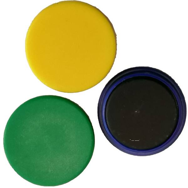 Aimant de tableau diamètre 25 mm bleu