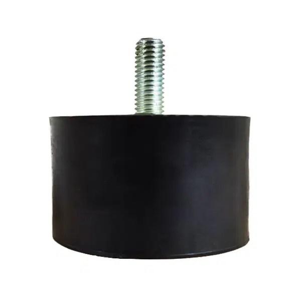 Tampon            amortisseur cylindrique caoutchouc Ø75 x 45 mm • Tige filetée M12 x 30 mm