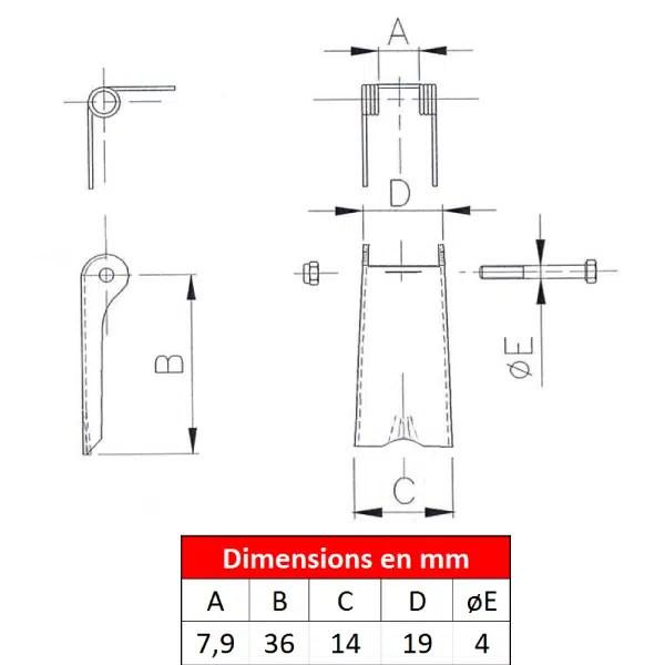 Linguet de sécurité ST2-02