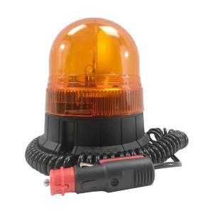 Gyrophare compact orange • câble 3m spiralé avec prise allume-cigare • Hauteur verrine 150 mm