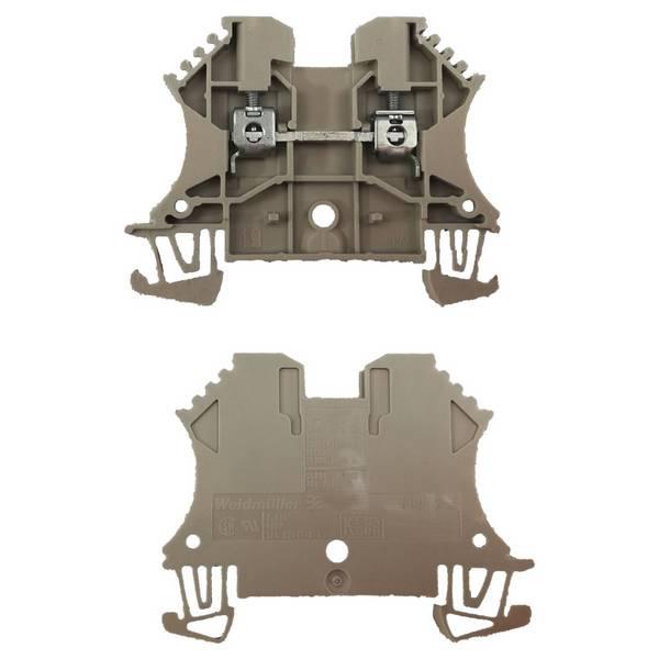Borne pour montage sur rail oméga pour fil 50 mm² (serrage par vis)