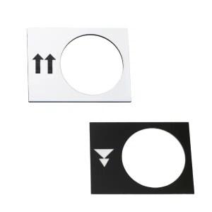Etiquettes pour boîte à boutons pendante XACA Schneider • 30 x 40 mm