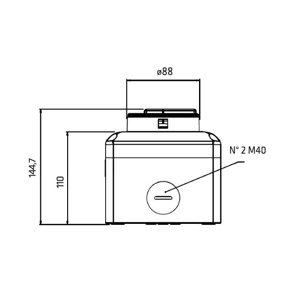 Interrupteur sectionneur 3P cadenassable en coffret acier •  100 A