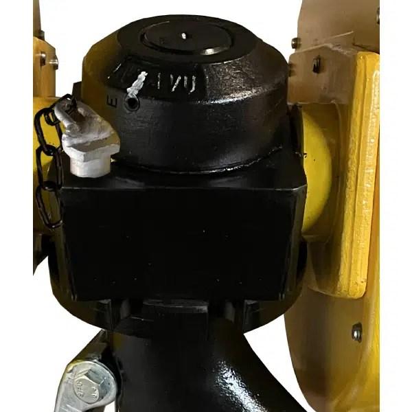 Moufle     pour palan 2 réas avec blocage en 4 positions du crochet • Charge 8 t (M5) • Entraxe 257 mm • Pour câble Ø 14 mm
