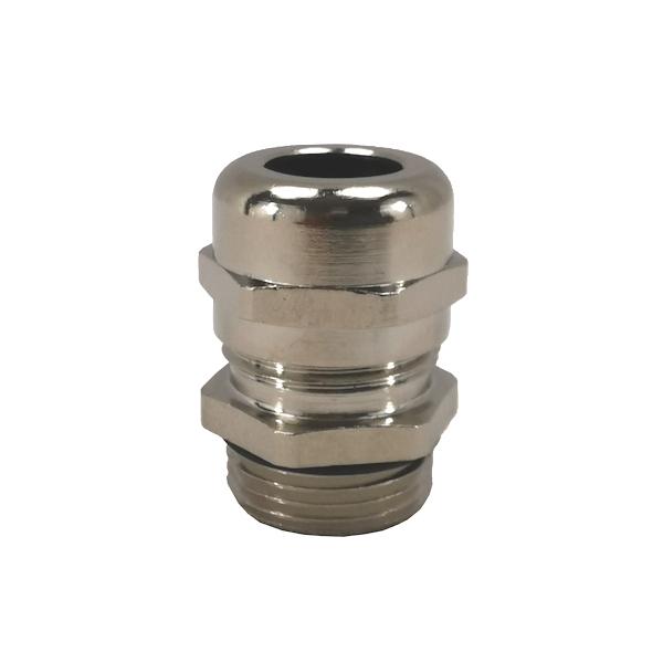 Presse étoupe en laiton nickelé • M25 • Pour câble Ø 11 à 17mm