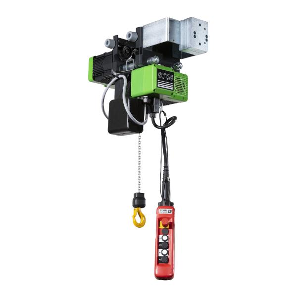 Palan électrique                           à chaîne STAHL avec chariot électrique HPN (400V triphasé) 250 kg