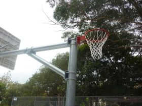 Close up of netball side of BNB24
