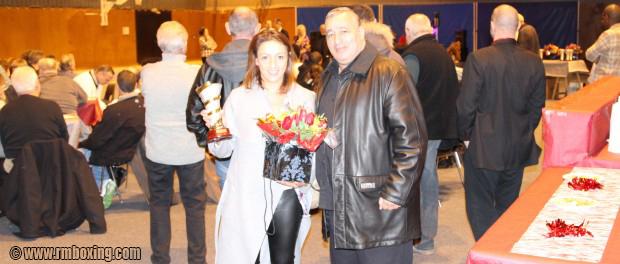 Lailla Akounad Laurier d'Or  de la ville de St-Ouen et Rachid Saadi