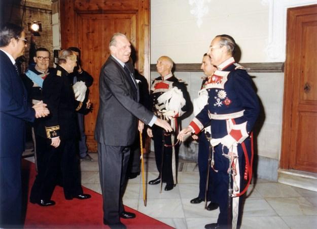Visita de SAR Don Juan de Borbón a la RMCV