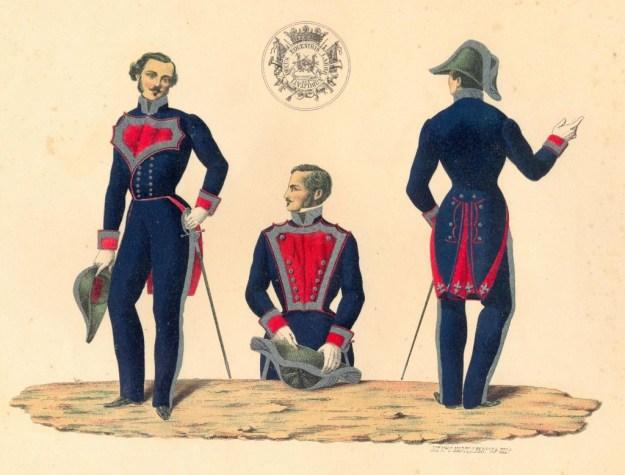 Uniforme de la RMCV de 1814 a 1853