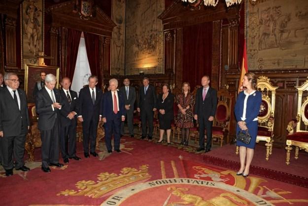 Visita de la Infanta Elena el 11 de Mayo de 2013 con motivo de la Reunión anual de la cinco Reales Maestranzas