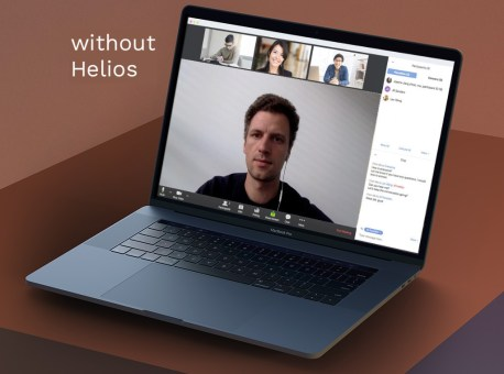 Video conference without Helios daylight lamp