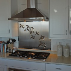Kitchen Island And Carts Vigo Faucet Stainless Steel Backsplash With Sea Turtles - R Mended ...