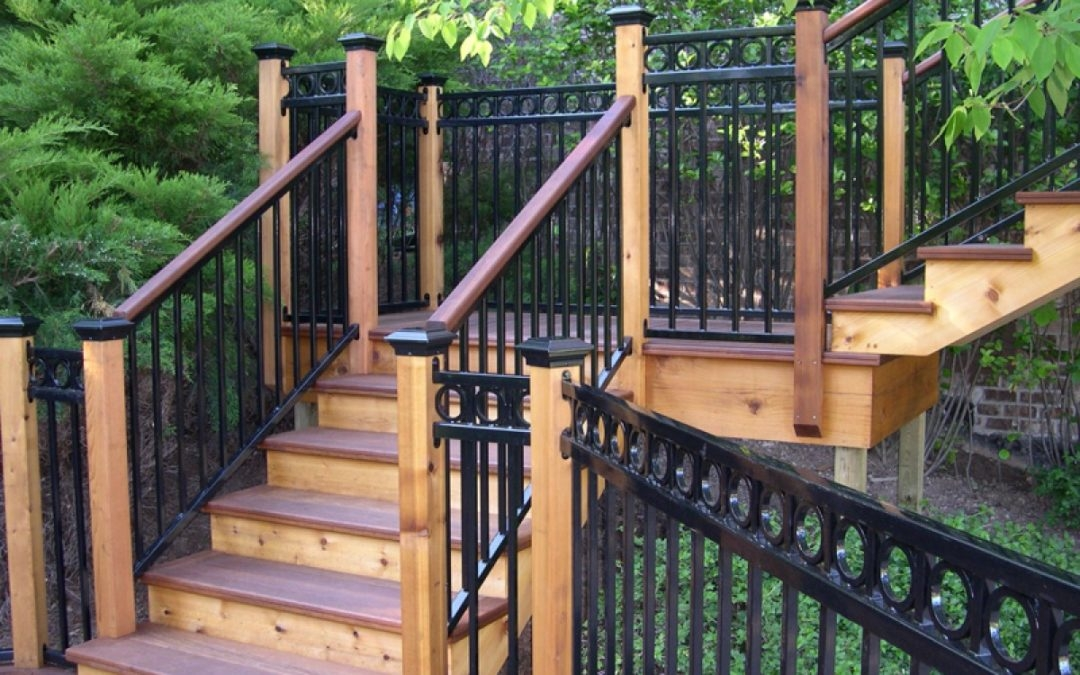Fortress Fe26 Iron Railing Everything You Need To Know Rmfp Blog | Adding Wood To Wrought Iron Railing | Cedar | Entryway | Rod Iron | Repair | Process Fabrication