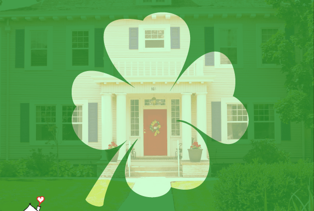 Picture of Idaho RMH with shamrock overlay