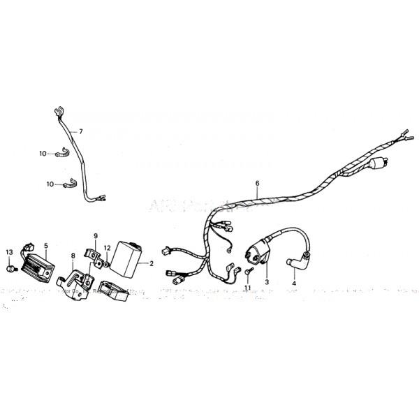 CDI Unit Honda TRX250X TRX250R ATC250R OEM 30410-HA2-671