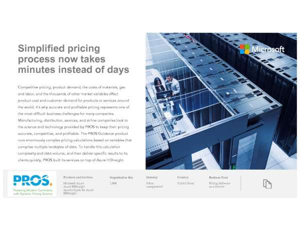 Simplified Pricing Process Now Takes Minutes Instead of Days