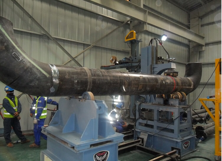 large pipe rotator md