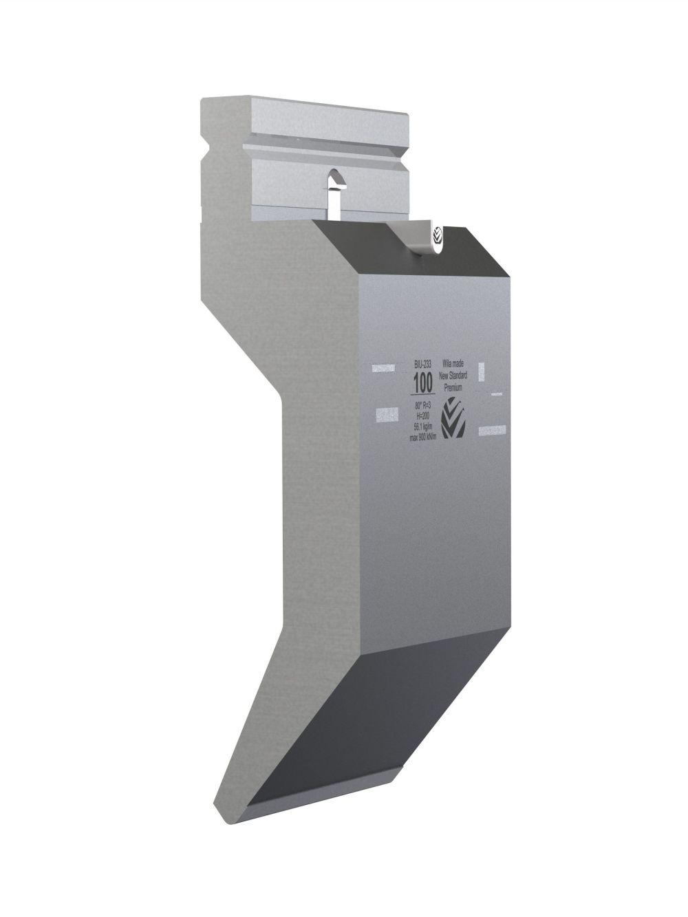 WILA BIU-233/1 New Standard Premium Top Tool H=200mm, a=80°, R=3mm, max.load: 90ton/m 515mm OPEN BOX, NEW