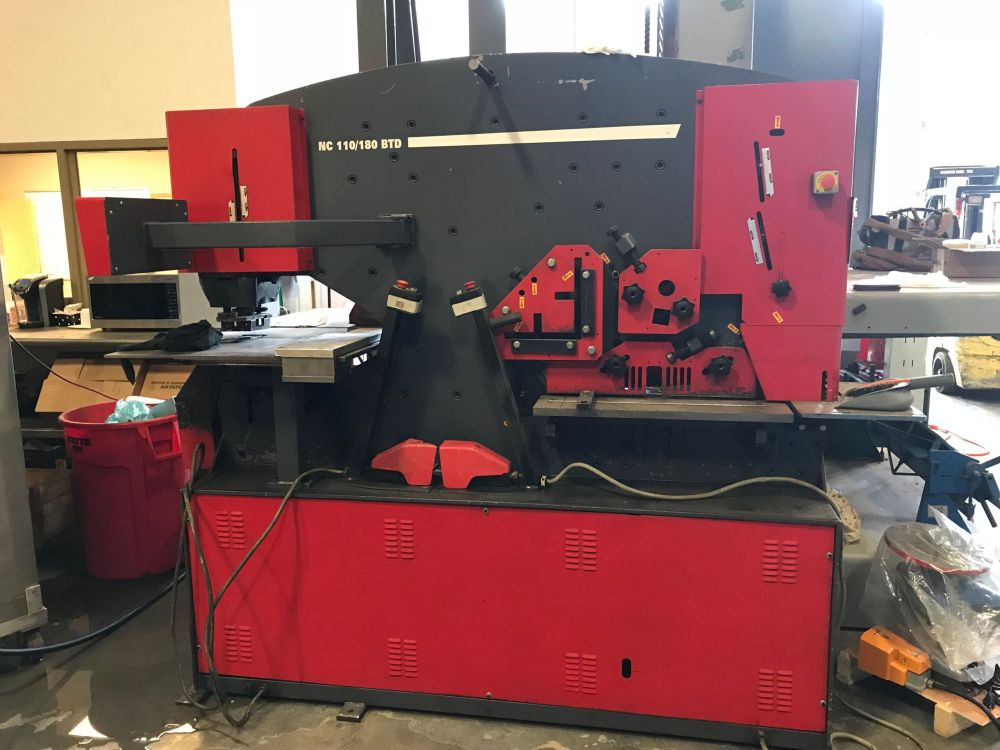 JMT 121 Ton Dual Station Ironworker with NC Guage