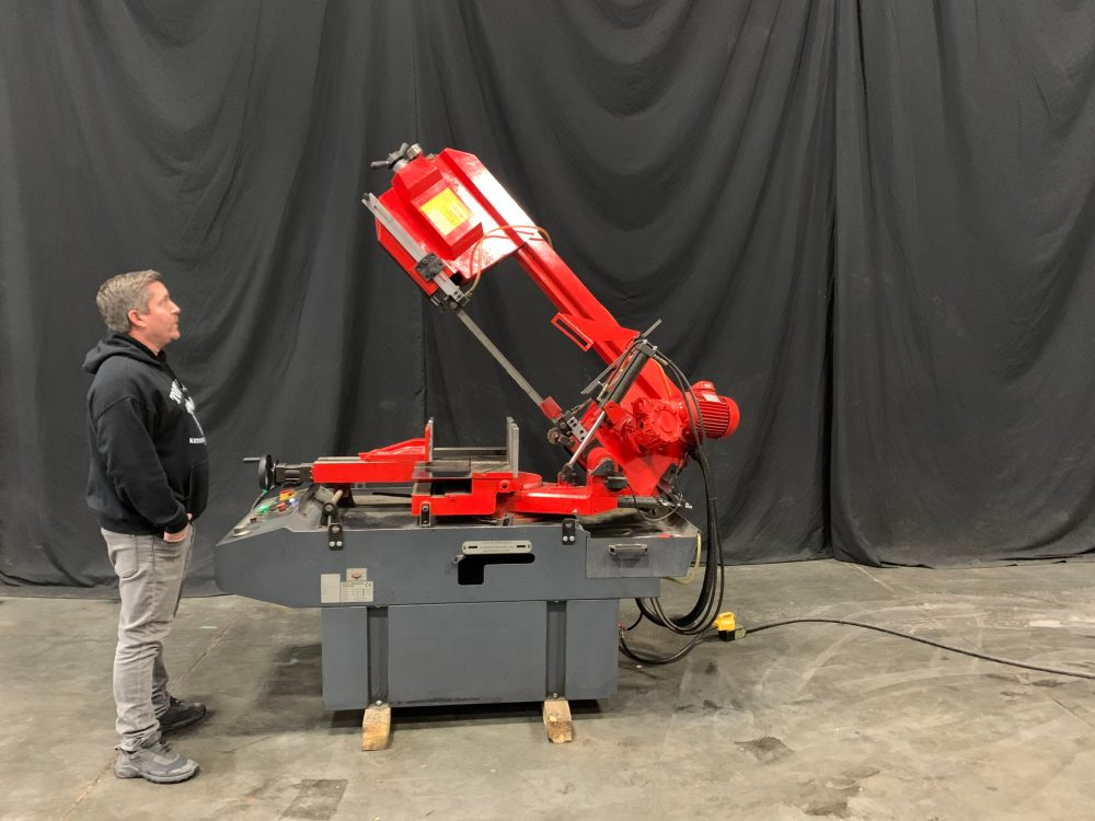"""JMT Double Miter Bandsaw - 14"""" Round - 12 3/4"""" x 13 5/8"""" Rectangle Capacity"""