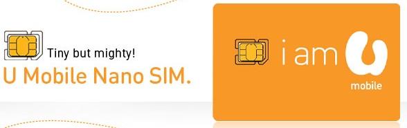 U Mobile Nano Sim Card