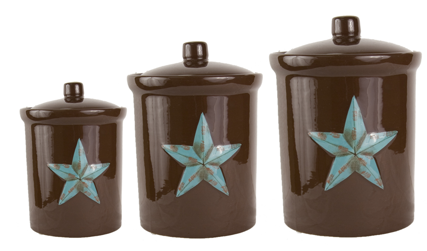 Rustic Kitchen Canister Set