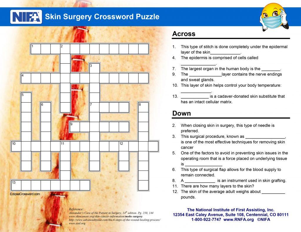 Skin Surgery Crossword Clues