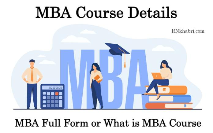 MBA Course Details: MBA Full Form or What is MBA Course