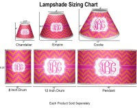 Pink & Orange Chevron Coolie Lamp Shade (Personalized ...