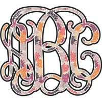 Mums Flower Monogram Wall Decal (Personalized) - RNK Shops