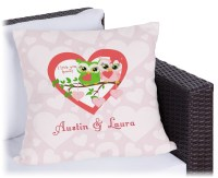 "Valentine Owls Outdoor Pillow - 16"" (Personalized ..."