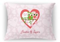 "Valentine Owls Rectangular Throw Pillow - 18""x24 ..."