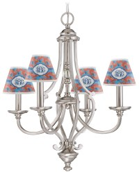 Blue Parrot Chandelier Lamp Shade (Personalized