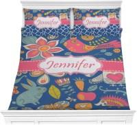 Owl & Hedgehog Comforter Set - Full / Queen (Personalized ...