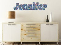 Owl & Hedgehog Name Wall Decal - Large (Personalized ...